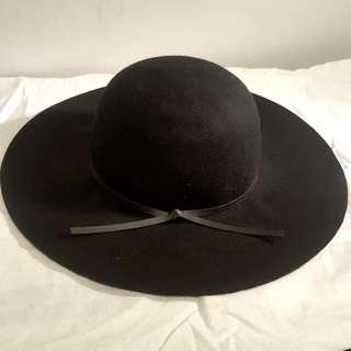 Black Fedora Wool Hat