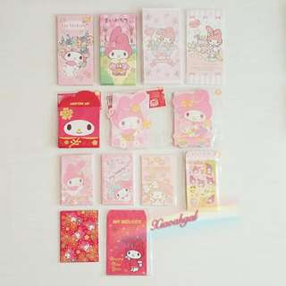 ◆SANRIO ORIGINAL - AUTHENTIC & BRAND NEW◆ MADE IN JAPAN My Melody Red packet (Packets) /Angbao / Little Envelope (Not even open to take pic - CLEAN in PLASTIC) Decorate Your House with this; Children most happy receiving this! No pet No smoker Clean Hse