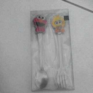 芝麻街餐具組(湯匙、叉子)