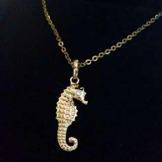 Golden Seahorse Necklace