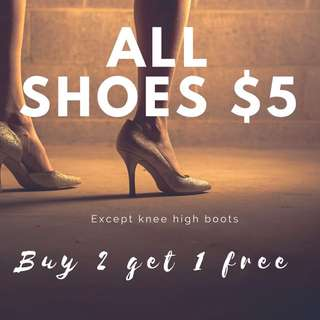 Buy 2 Get 1 Free Shoes
