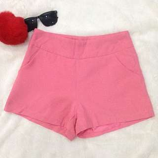 CS02 - Pink Soft Shorts With Side Zipper