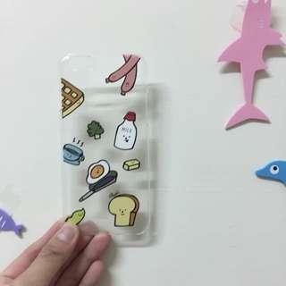 手機殼🤡食物好好吃i6透明硬殼