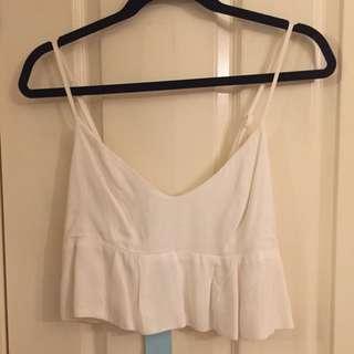 Kookai Ella cropped top   Natural White   Size 40