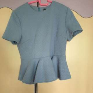 Theclosetlover Quilted Peplum Top Size XL