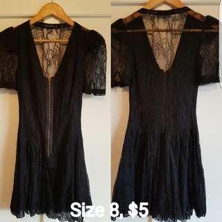 Black Plunge Dress