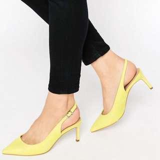 ASOS SCORPIO Pointed Heels in Yellow