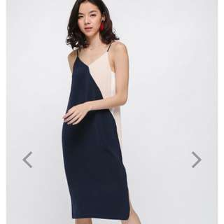 Love Bonito Arrikhe Contrast Midi Dress(Not For Sale Yet)
