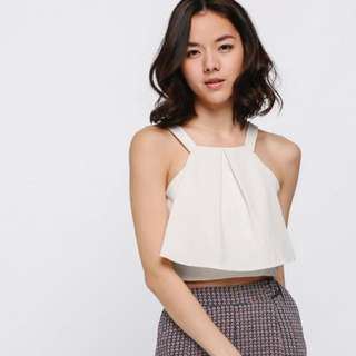 Love Bonito Tilva Flounce Crop Top