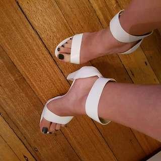 Windsor Smith Leather Heels White Size 9