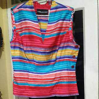 Colorfull Blouse Tanpa Lengan