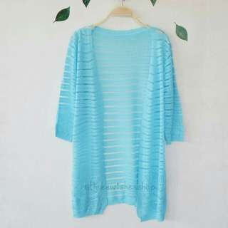 Sky Blue Knit Cardigan