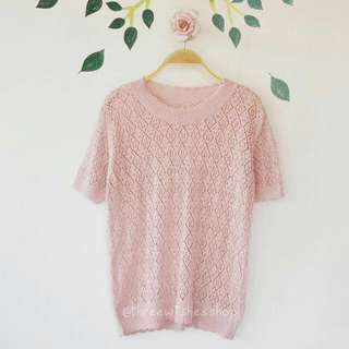 Light Pink Knit Top