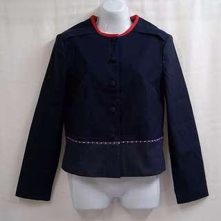 FANECIN亮面奢華造型修身時尚外套專櫃品牌CP值超高優質外套【全新原價2580元女性外套F號】
