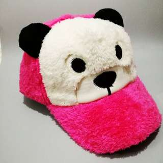 Kids Furry Bear Cap