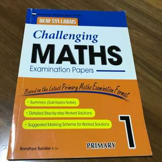 Challenging Maths Examination Papers For Primary 1