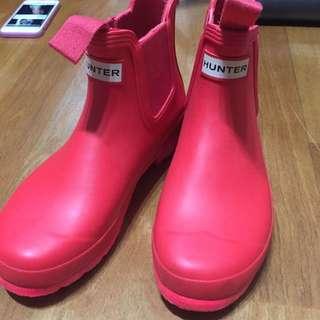 Hunter 紅 雨鞋