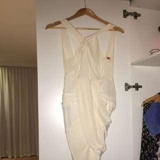 Manning Cartel Our Rhythm Dress Size 8 Cream
