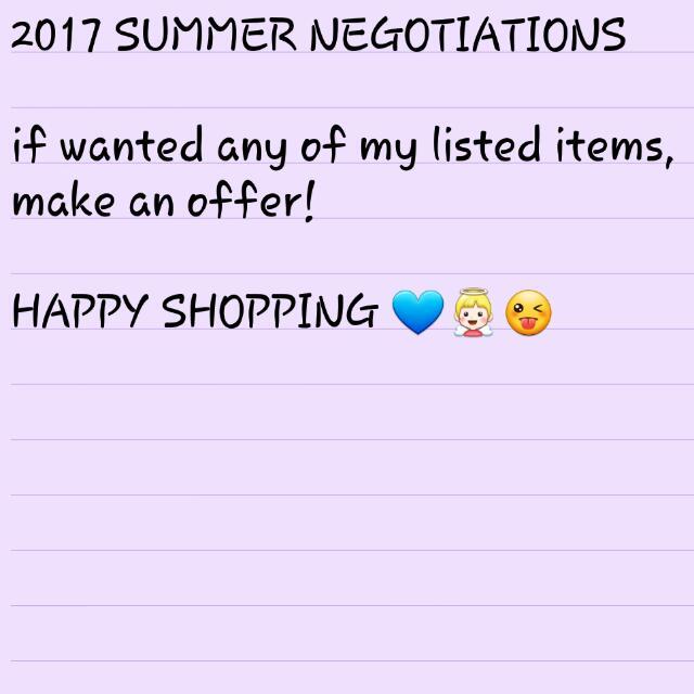 2017 SUMMER NEGOTIATIONS