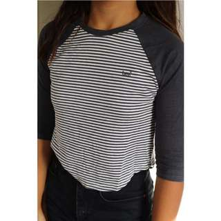 Lee Striped Baseball Tee