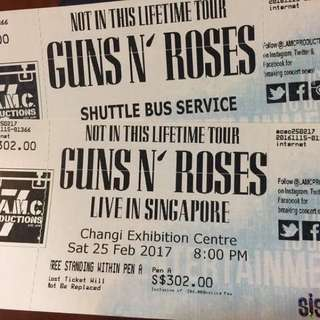 Guns N' Roses Concert Ticket
