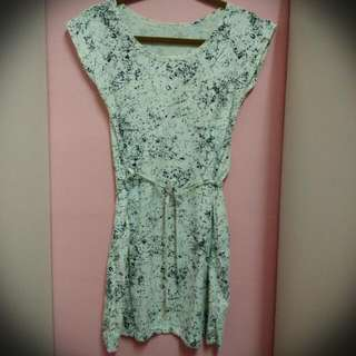 Abstract cotton dress