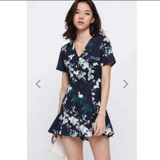 Ducena Printed Playsuit Love Bonito Size s