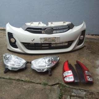 Bumper , Lampu Depan & Belakang Myvi SE .