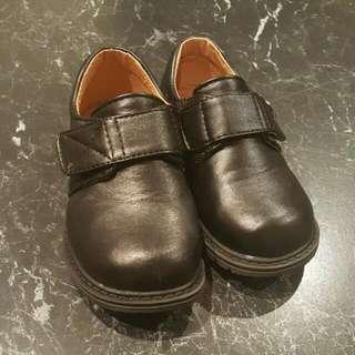 Toddler Black Formal Shoes Size 26