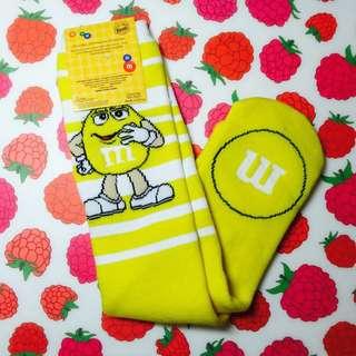 黃色m&m長筒襪