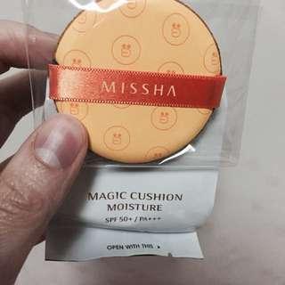 Missha氣墊粉撲+氣墊粉餅(白皙色)