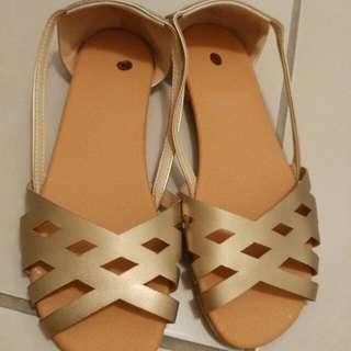 Gold Sandals Brand New