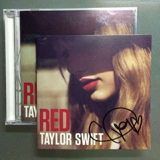 Autographed Taylor Swift RED Album