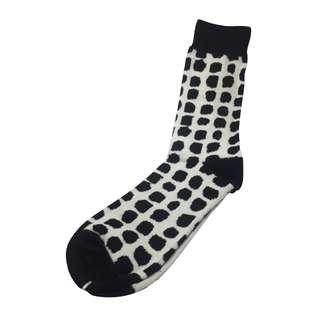 Splashy Series Black Spots White Socks
