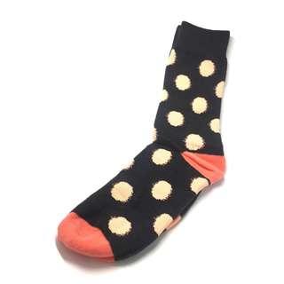Speckle Series Pink Polka Dots Dark Grey Socks