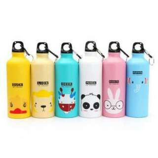 Botol Minum Cute Character With Carbiner (Thermos) Bahan Doff