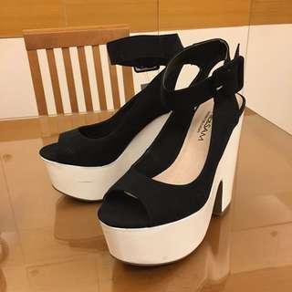Sophie&Sam 黑白極簡個性厚底高跟鞋