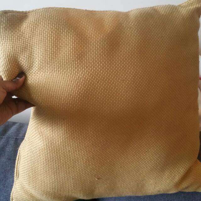 2 Yellow Throw Pillows