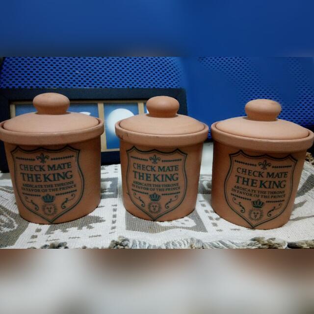 鄉村風陶罐(3入)