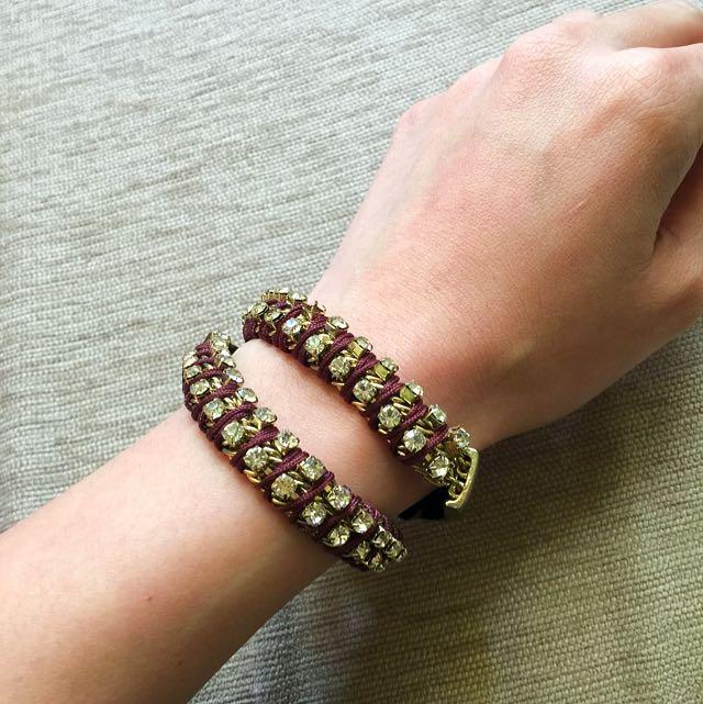個性扣環皮革手環(一次買4個$100元)