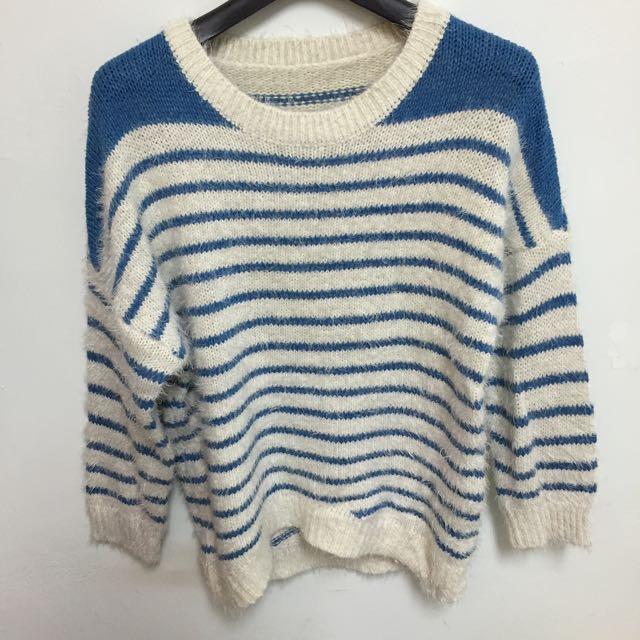 舒適感橫紋毛衣