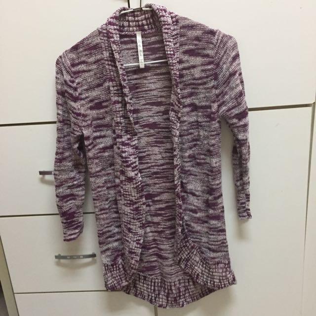 七分袖外罩針織衫#三百元外套