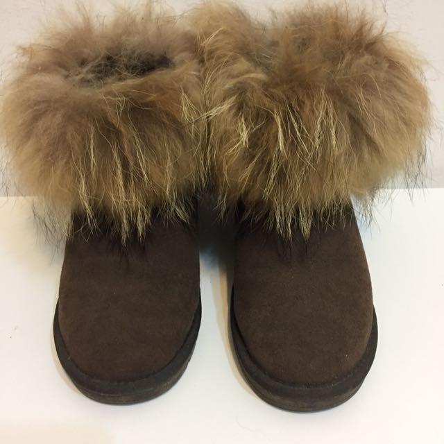 狐貍毛雪靴