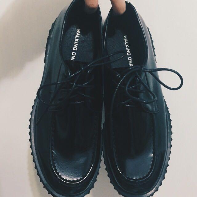 含運👌韓國厚底皮鞋