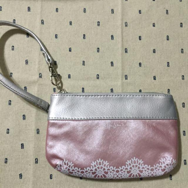 含運!艾杜紗粉紅手拿包