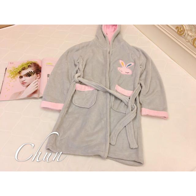 珊瑚絨綁帶睡袍