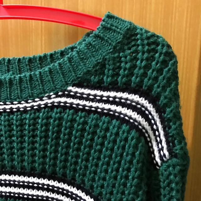 短板長袖毛衣