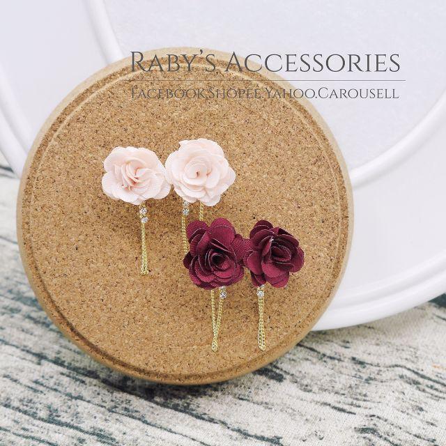 現貨→花朵流線造型耳環 #150381 共2色【Raby芮彼飾品】