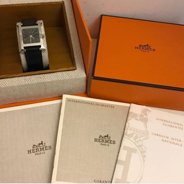 保證正品 8.8成新 Hermes H-Hour錶❤