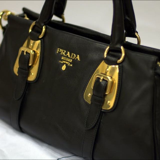 de922f1810de ... purchase authentic prada bauletto soft calf leather satchel bag luxury  bags wallets on carousell 3981d 6fcce